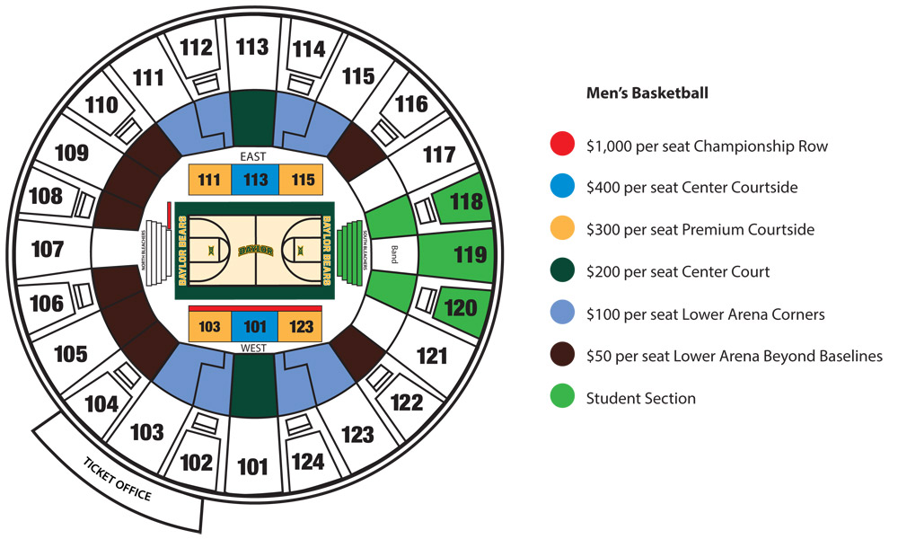 Seat pricing Basketball